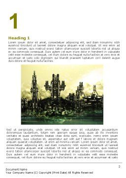 Futuristic View Word Template, First Inner Page, 06950, Construction — PoweredTemplate.com