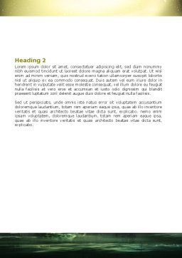 Futuristic View Word Template, Second Inner Page, 06950, Construction — PoweredTemplate.com