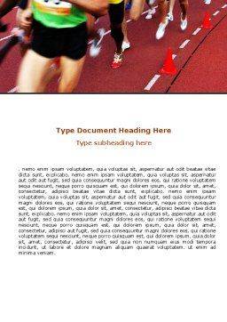 Athletic Competition Word Template, Cover Page, 06954, Sports — PoweredTemplate.com