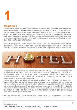 Hotel Check-in Word Template, First Inner Page, 06956, Careers/Industry — PoweredTemplate.com