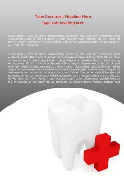 Stomatology Emergency Help Word Template, Cover Page, 06958, Medical — PoweredTemplate.com