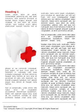 Stomatology Emergency Help Word Template, First Inner Page, 06958, Medical — PoweredTemplate.com