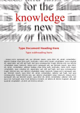 Focus on Knowledge Word Template Cover Page