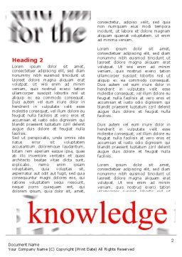 Focus on Knowledge Word Template First Inner Page