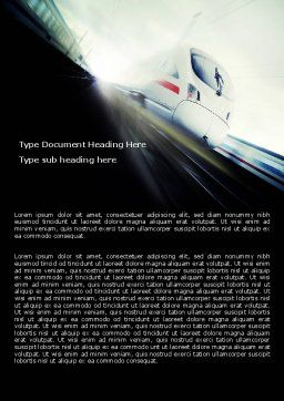High-Speed Train Word Template, Cover Page, 06963, Cars/Transportation — PoweredTemplate.com