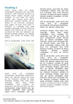 High-Speed Train Word Template, First Inner Page, 06963, Cars/Transportation — PoweredTemplate.com