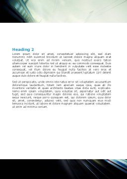 High-Speed Train Word Template, Second Inner Page, 06963, Cars/Transportation — PoweredTemplate.com