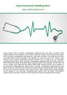 Stethoscope Diagram Word Template, Cover Page, 06964, Medical — PoweredTemplate.com