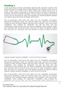 Stethoscope Diagram Word Template, First Inner Page, 06964, Medical — PoweredTemplate.com