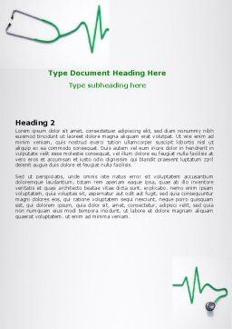 Stethoscope Diagram Word Template, Second Inner Page, 06964, Medical — PoweredTemplate.com