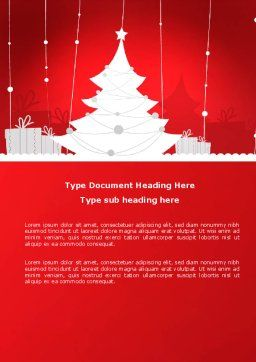 Christmas Tree Theme Word Template, Cover Page, 06966, Holiday/Special Occasion — PoweredTemplate.com