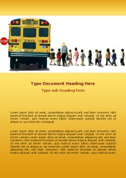 School Bus Stop Word Template Cover Page