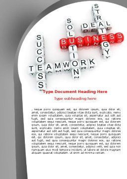 Business Game Word Template, Cover Page, 06968, Business — PoweredTemplate.com