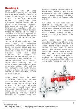 Business Game Word Template, First Inner Page, 06968, Business — PoweredTemplate.com