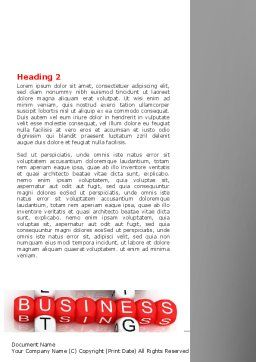 Business Game Word Template, Second Inner Page, 06968, Business — PoweredTemplate.com