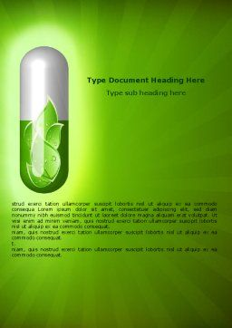 Homoeopathy Word Template Cover Page