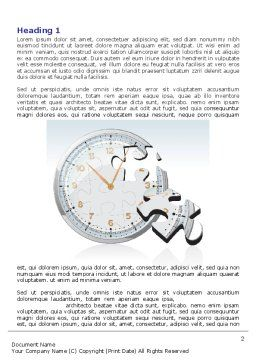 Time Shortage Word Template, First Inner Page, 06975, Consulting — PoweredTemplate.com