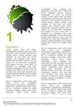 Urbanization Word Template First Inner Page