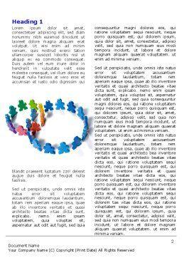 Figure Eight Word Template, First Inner Page, 06978, Business — PoweredTemplate.com