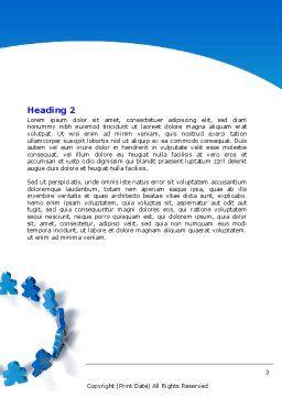 Figure Eight Word Template, Second Inner Page, 06978, Business — PoweredTemplate.com