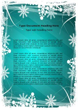 Winter Frame Background Word Template, Cover Page, 06980, Holiday/Special Occasion — PoweredTemplate.com