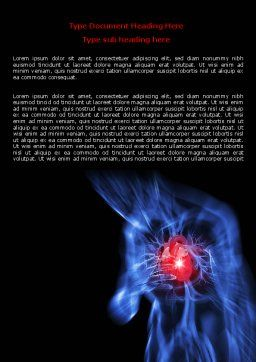 Heart Catadrome Word Template, Cover Page, 06982, Medical — PoweredTemplate.com