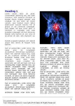 Heart Catadrome Word Template, First Inner Page, 06982, Medical — PoweredTemplate.com