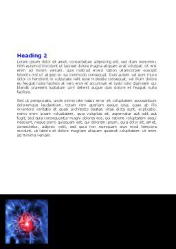 Heart Catadrome Word Template, Second Inner Page, 06982, Medical — PoweredTemplate.com