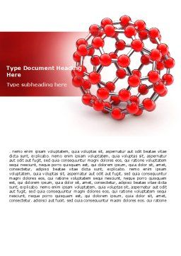 Molecular Structure Of Fullerene Word Template, Cover Page, 06985, Technology, Science & Computers — PoweredTemplate.com