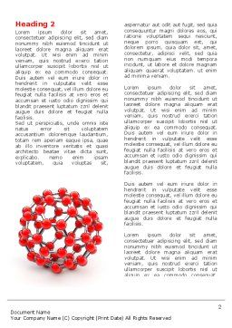 Molecular Structure Of Fullerene Word Template, First Inner Page, 06985, Technology, Science & Computers — PoweredTemplate.com
