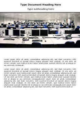 IT Office Space Word Template, Cover Page, 06986, Careers/Industry — PoweredTemplate.com