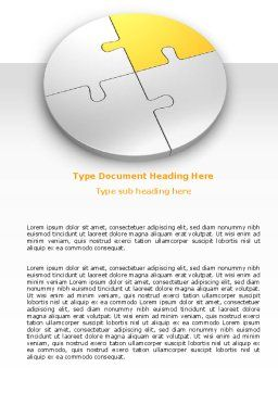 Round Puzzle Word Template, Cover Page, 06988, Consulting — PoweredTemplate.com