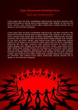 Round Dance On A Red Field Word Template, Cover Page, 06993, Religious/Spiritual — PoweredTemplate.com