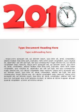 2010 Ticking Word Template, Cover Page, 06994, Holiday/Special Occasion — PoweredTemplate.com