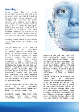 Face Modeling Word Template, First Inner Page, 06995, 3D — PoweredTemplate.com