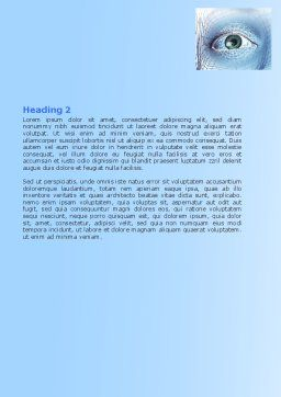 Face Modeling Word Template, Second Inner Page, 06995, 3D — PoweredTemplate.com