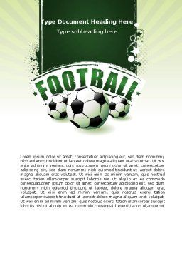 Football World Cup Word Template, Cover Page, 06996, Sports — PoweredTemplate.com