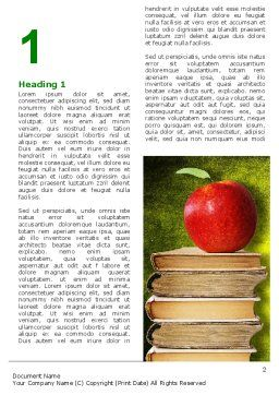 Apple and Books Word Template, First Inner Page, 06997, Education & Training — PoweredTemplate.com