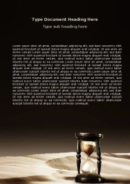Sands of Time Word Template, Cover Page, 06998, Consulting — PoweredTemplate.com