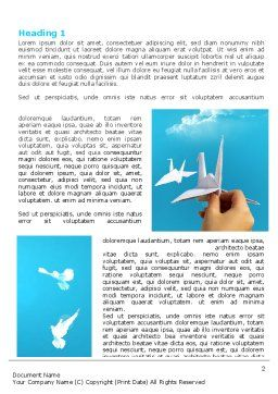 Paper Birds Word Template, First Inner Page, 07000, Business Concepts — PoweredTemplate.com