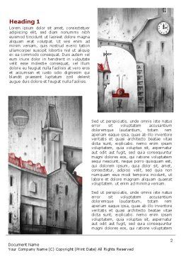 Old City Drawing Word Template, First Inner Page, 07006, Construction — PoweredTemplate.com