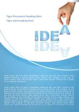 Creating an Idea Word Template, Cover Page, 07009, Consulting — PoweredTemplate.com
