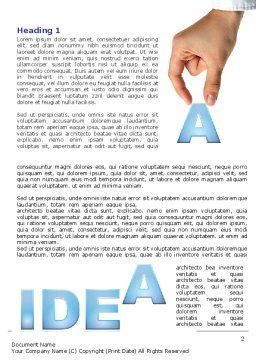 Creating an Idea Word Template, First Inner Page, 07009, Consulting — PoweredTemplate.com