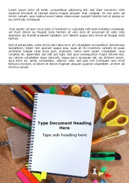 Office Stuff Word Template, Cover Page, 07010, Business — PoweredTemplate.com