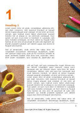 Office Stuff Word Template, First Inner Page, 07010, Business — PoweredTemplate.com