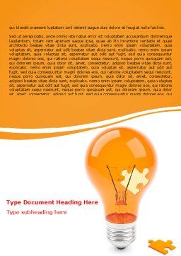 Idea Puzzle Word Template, Cover Page, 07011, Consulting — PoweredTemplate.com