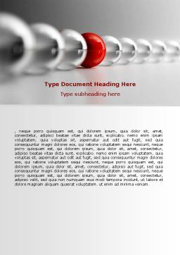 Red Ball Word Template, Cover Page, 07014, Business Concepts — PoweredTemplate.com