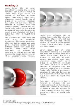 Red Ball Word Template, First Inner Page, 07014, Business Concepts — PoweredTemplate.com