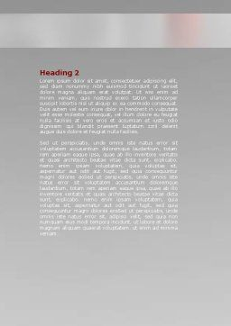 Red Ball Word Template, Second Inner Page, 07014, Business Concepts — PoweredTemplate.com
