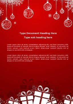 Red New Year Theme Word Template, Cover Page, 07018, Holiday/Special Occasion — PoweredTemplate.com